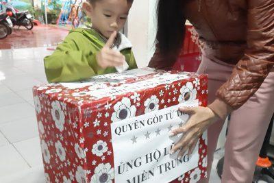 Phong trào ủng hộ đồng bào miền trung trường mẫu giáo Hoa Ngọc Lan